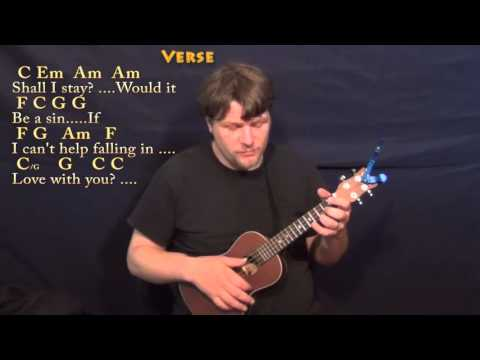 Can't Help Falling In Love (Elvis) Ukulele Cover Lesson In C With Chords/Lyrics