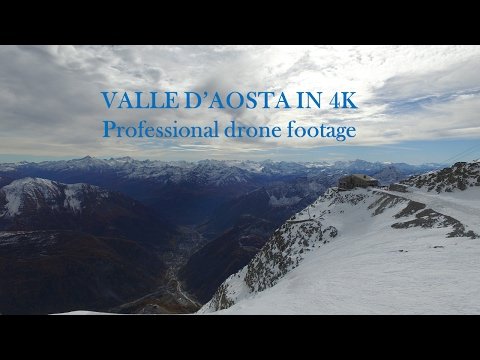 Valle D'Aosta IN 4K - professional drone footage