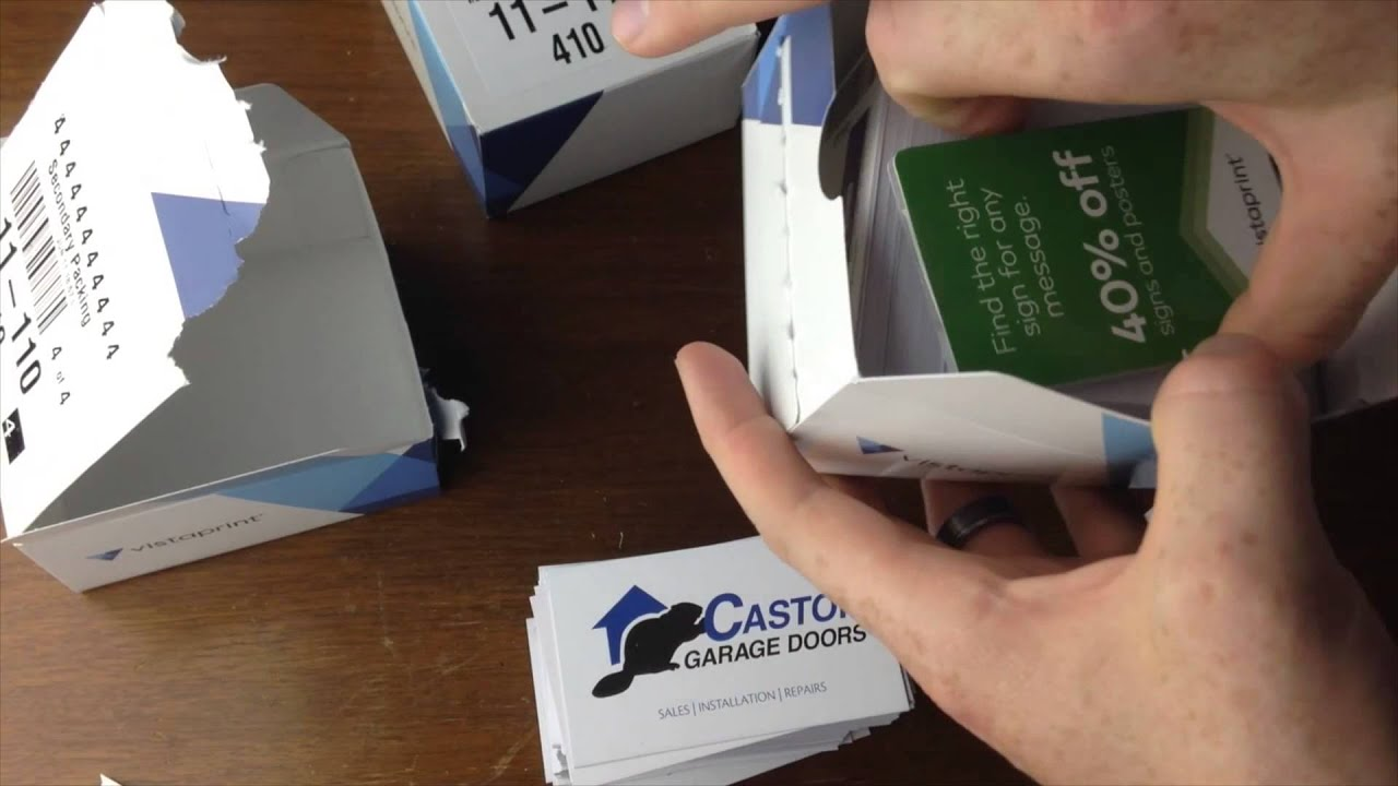 VistaPrint Business Cards Review 14pt - YouTube