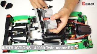 LEGO Technic 42039 RC motorized race car, Video Instructions(2 XL-motors) by 뿡대디