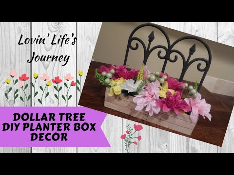 Dollar Tree DIY Planter Box Floral Decor   Perfect Mother's Day Gift