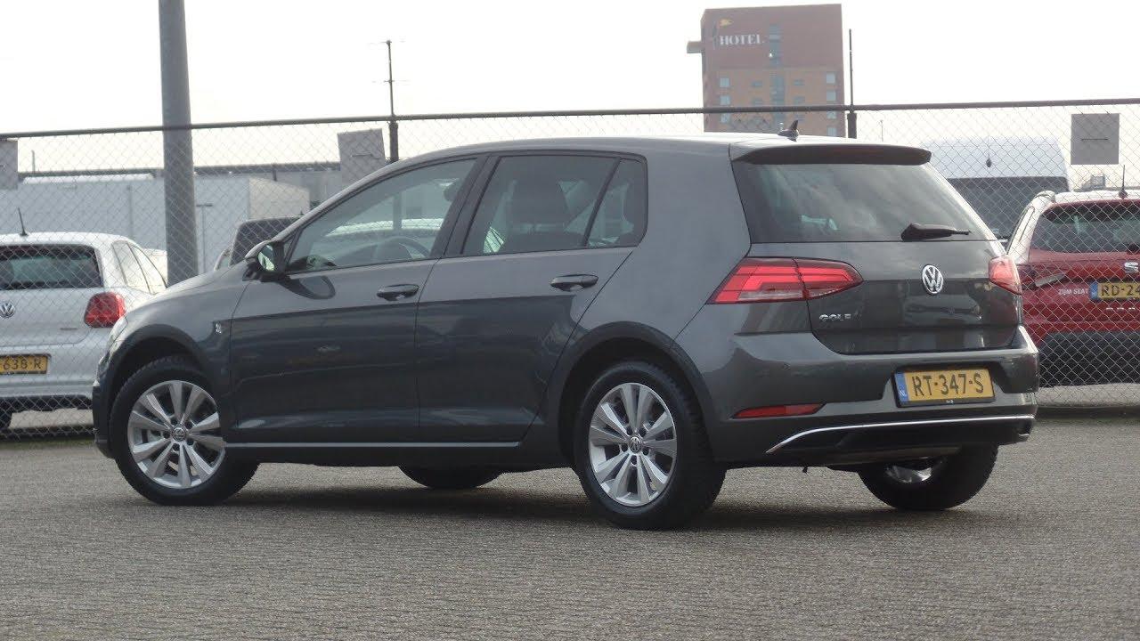 1f1091bded9d Volkswagen NEW Golf 2018 Comfortline Indium Grey Metallic walk around    Inside detail