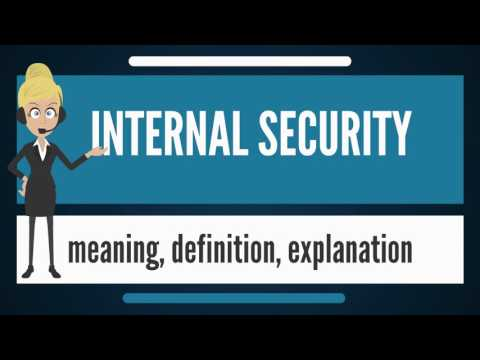 What is INTERNAL SECURITY? What does INTERNAL SECURITY mean? INTERNAL SECURITY meaning & explanation