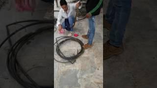 Snake tufani rescue -rat snake in farm equipment