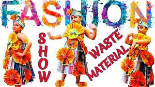 Fashion Global Trends | Mihika Manglik | Paper Dress for Girls | Kids Dress from Waste Materials