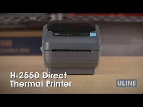 H-2550 Zebra GK420D Direct Thermal Printer - YouTube