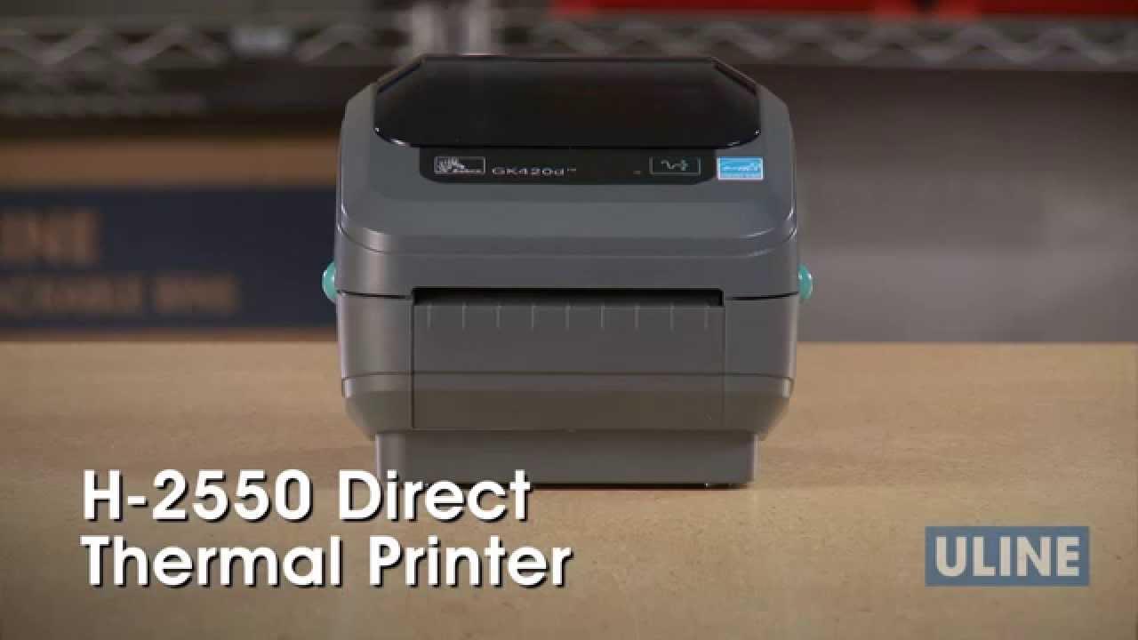 H-2550 Zebra GK420D Direct Thermal Printer