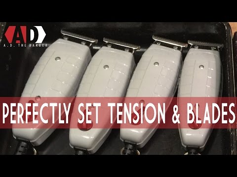 Perfectly Adjust Your Andis T-Outliner Tension and Blades   How to: AD the Barber