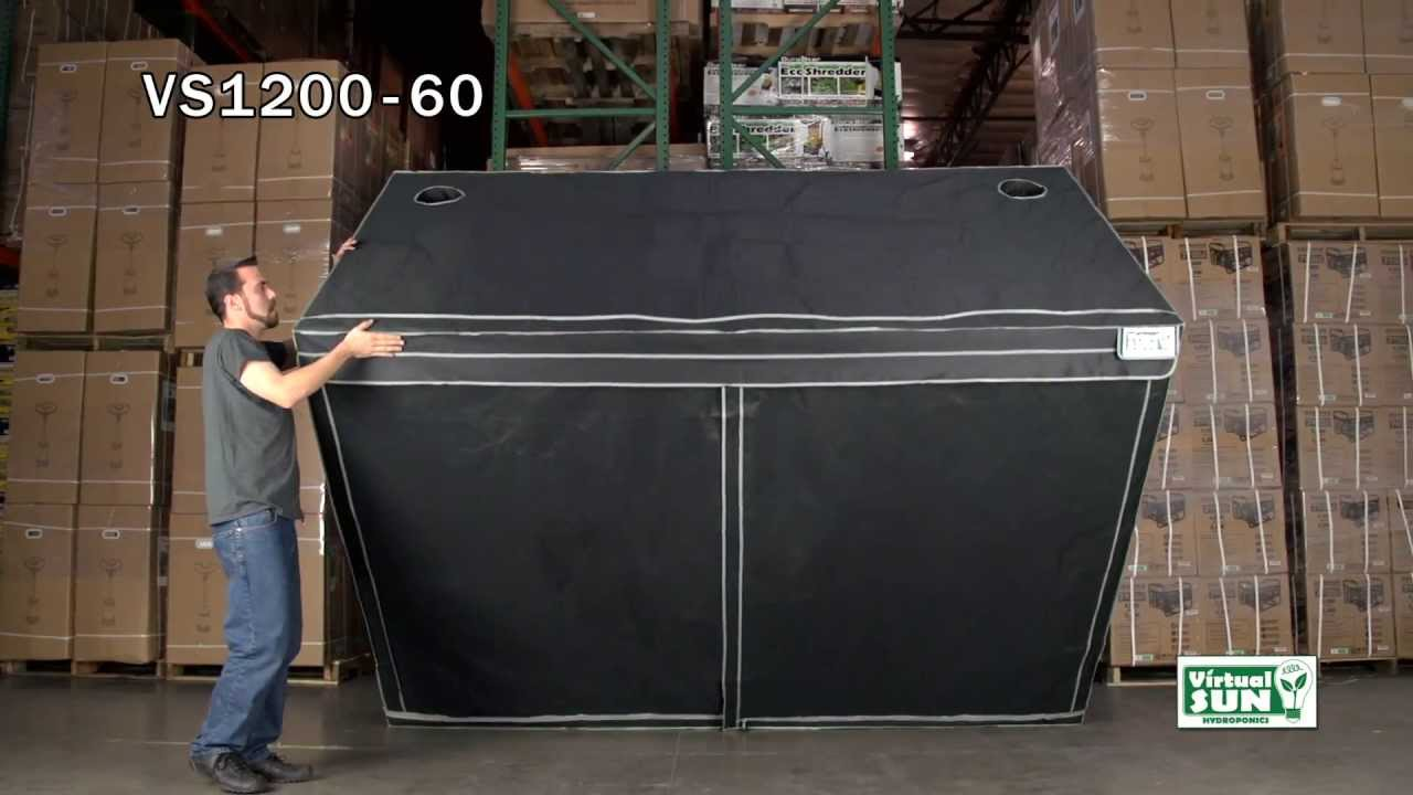 & Virtual Sun Hydroponics VS1200-60 Grow Tent Installation - YouTube