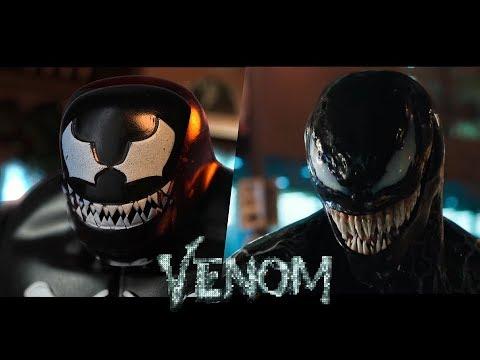VENOM - Official trailer in LEGO - side by side version