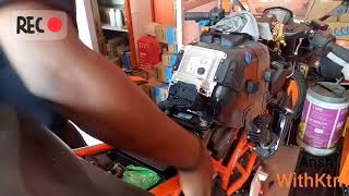 SECOND SERVICE KTM RC 200 2018 ||COST AND INSTALLATION NEW HANDLE BAR END