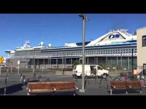 Golden Princess Cruise Ship In SF For #NFLKickoff #SB50