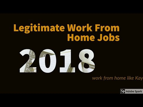 Legitimate Work From Home Jobs 2018 - No Experience Required (entry level)