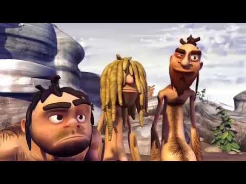 Короткий смешной мультик  Кроманьонцы и неандертальцы