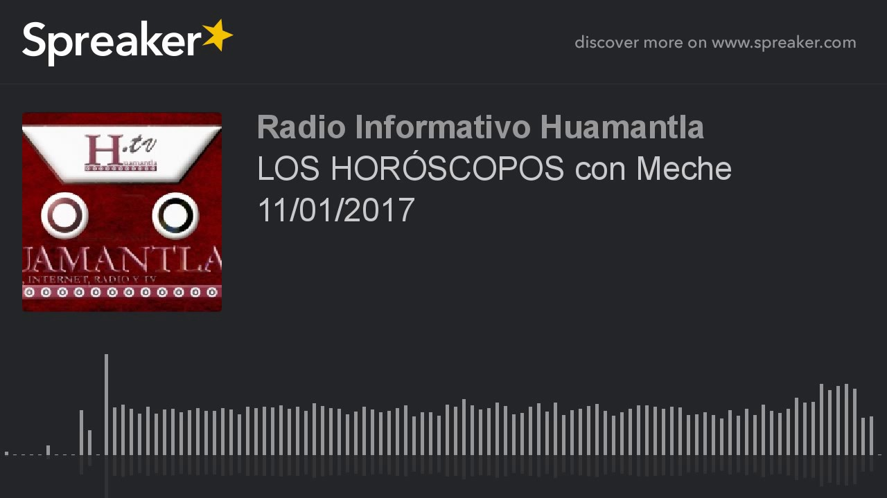 LOS HORÓSCOPOS con Meche 11/01/2017 - YouTube