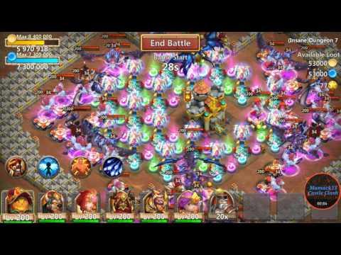 Castle Clash : Insane Dungeon 7-1