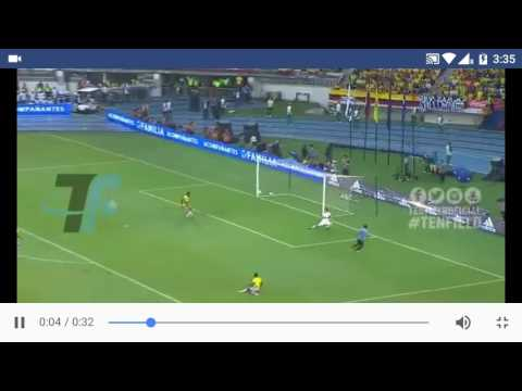 Luis Suarez goal from impossible angle Uruguay  VS Columbia |11/10/16 | worldCup qualifiers