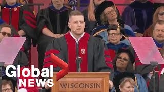 J.J. Watt delivers commencement speech at University of Wisconsin-Madison