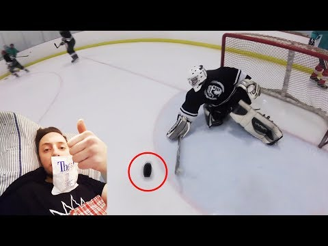 I GOT A PUCK TO THE FACE! | GoPro Hockey | Beer League