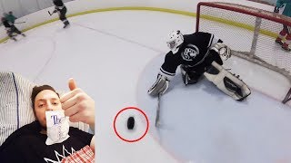 I GOT A PUCK TO THE FACE!   GoPro Hockey   Beer League