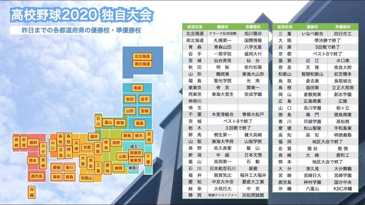 高校野球2020 全国都道府県独自大会の試合結果(8月19日)