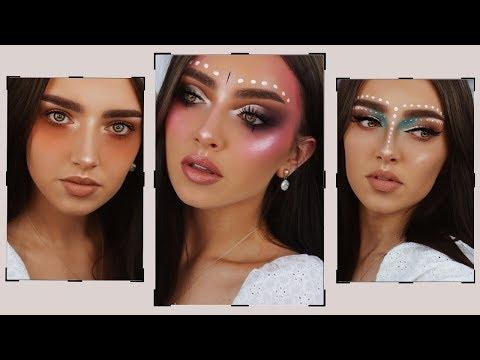 THREE FESTIVAL LOOKS || Makeup Tutorial