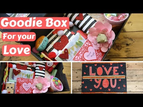 DIY Valentine's day/Birthday Gift Goodie box/Care package for your boyfriend/girlfriend/husband/wife