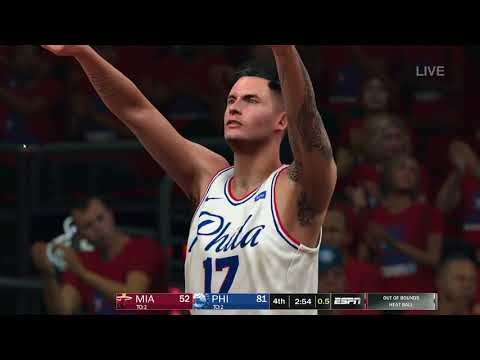 NBA 2K18 ESPN PC MOD 2018 PLAYOFFS SIXERS VS HEAT GAME 1