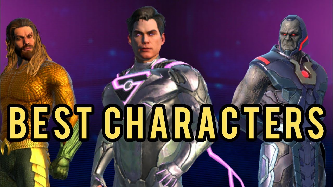 Top 5 BEST Male Characters!!! - Injustice 2 Mobile