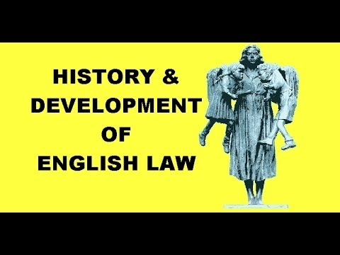 History & Development of English Law 1