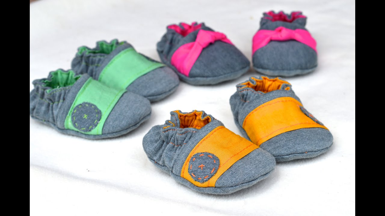 How To Make Baby Shoes Reversible Crib Shoe Style Youtube