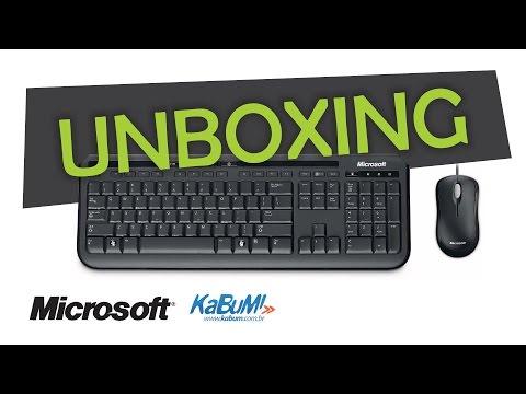 UNBOXING - Kit Teclado + Mouse - Microsoft Wired Desktop 600 Black