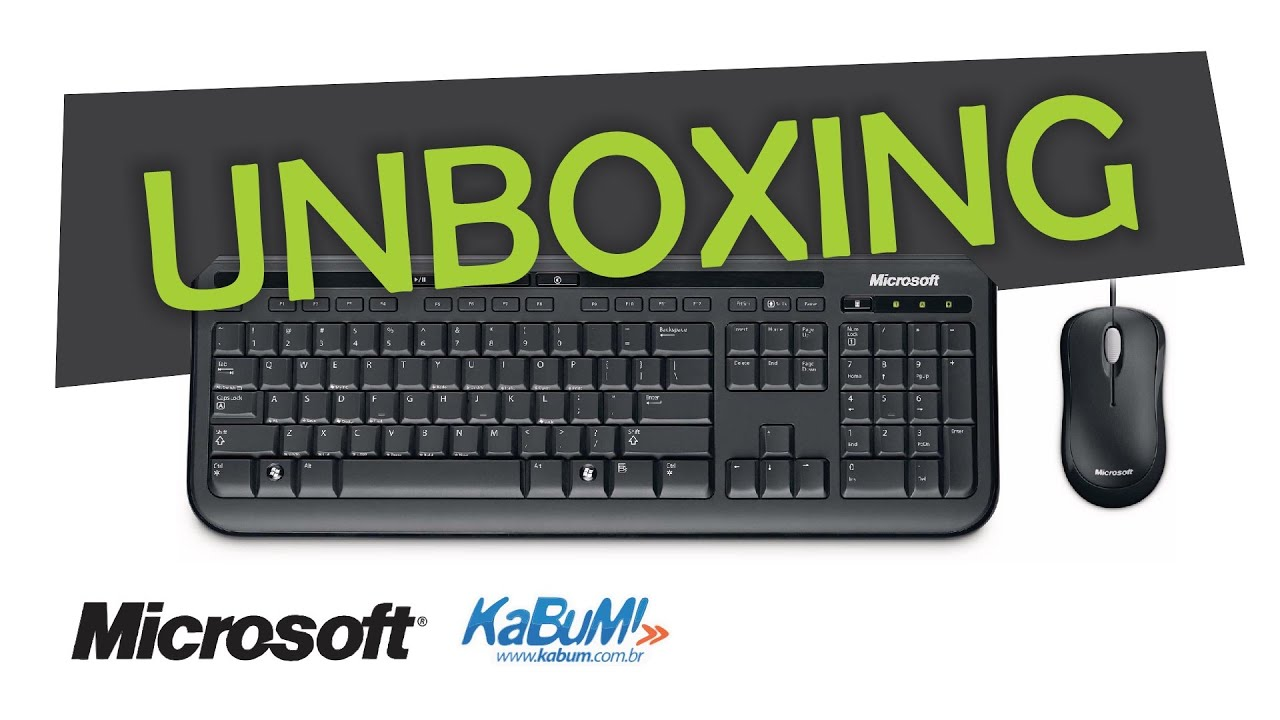 UNBOXING - Kit Teclado + Mouse - Microsoft Wired Desktop 600 Black ...