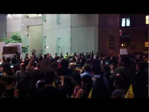 Occupy Boston: Outside the Federal Reserve Bank Building