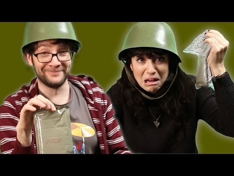 Civilians Try Military Food
