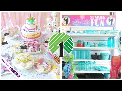 dollar-tree-shop-with-me-🦄-unicorn-birthday-party-🏠-sunday-setup