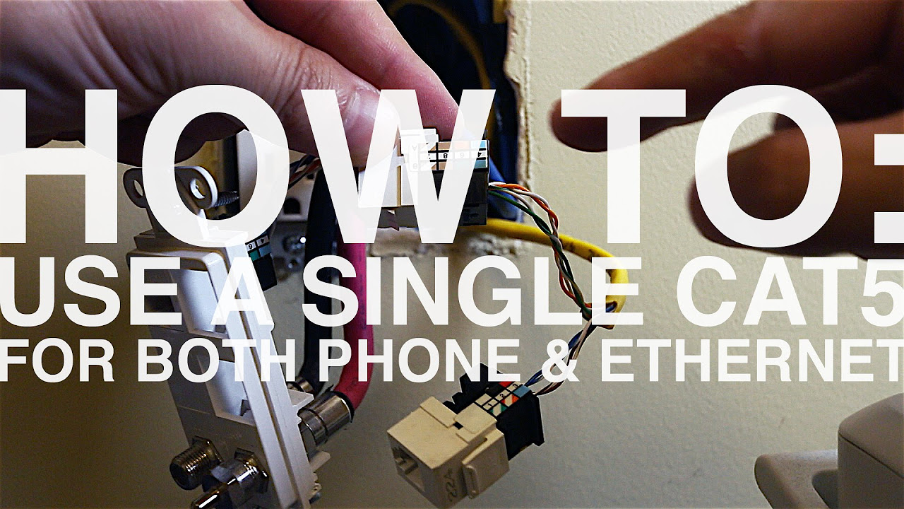 how to wire an ethernet and phone jack using a single cat5e cable how to wire an ethernet and phone jack using a single cat5e cable mavromatic