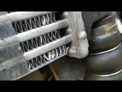 Интеркулер в масле, замена радиатора интеркулера Ford Transit Connect-Tourneo Транзит Коннект