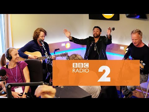 Sting and Shaggy - Lovely Day (Bill Withers cover, Radio 2 Breakfast Show)