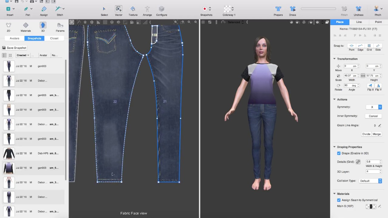 Design in 3D with Lotta and VStitcher