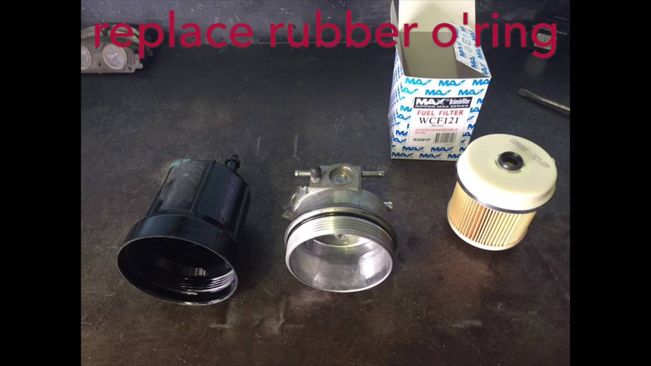 Izusu NPR Fuel Filter Replacement  YouTube