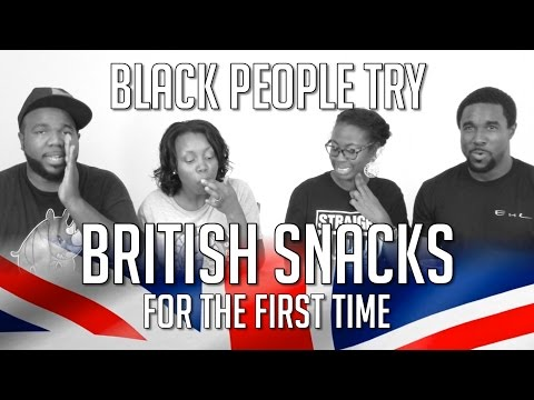 BLACK PEOPLE TRY BRITISH SNACKS FOR THE FIRST TIME [UK Snacks Taste Test]