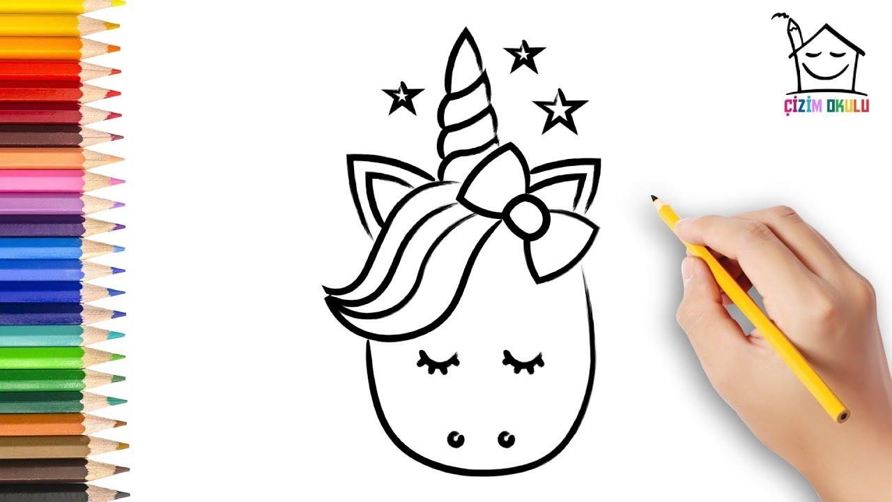 Nasil Cizilir Unicorn At Resim Cizme Cizim Okulu Youtube