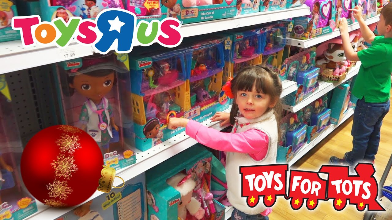 Toys At Christmas : Toys r us christmas toy hunt for tots kinder