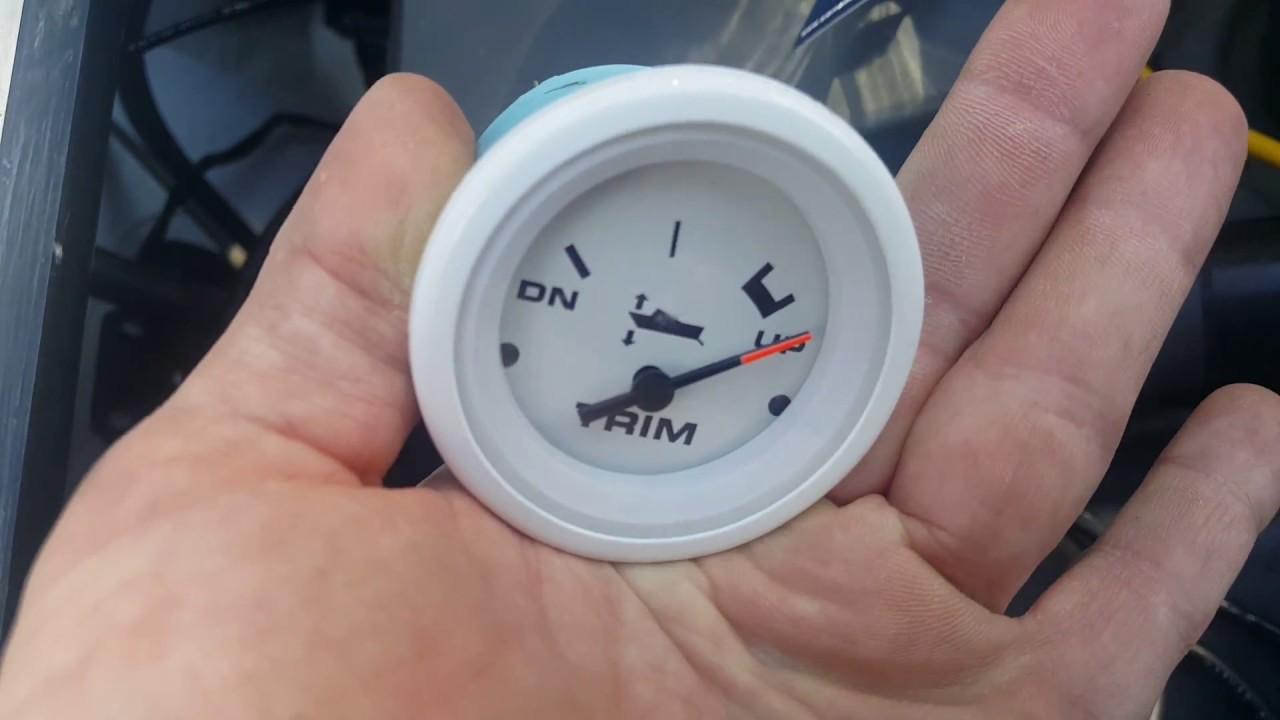 hight resolution of omc cobra volvo penta sx engine new trim gauge install youtube volvo trim gauge wiring diagram