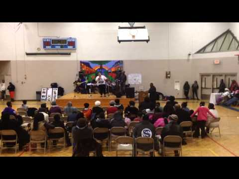 Black history case at a community center in bridgeport ct