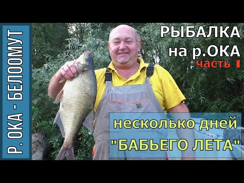 """Рыбалка на Оке в Белоомуте, 1 часть, Фидер, Лещ, несколько дней """"Бабьего лета"""", сентябрь 2018г."""
