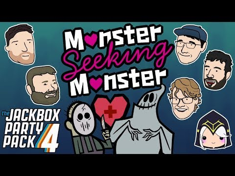 Let's Play Monster Seeking Monster | The Jackbox Party Pack 4 | 2 Left Thumbs | JBPP4 Gameplay