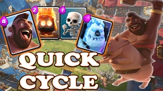 best hog cycle deck   clash royale best arena 9 10 strategy   no legendary card deck