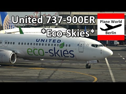 United Airlines Boeing 737-900ER *Eco-Skies* at New York EWR